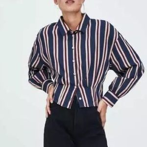Zara || trf Collection Cropped Button Down